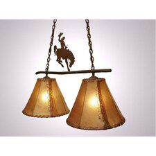 8 Seconds Round Rawhide Double Anacosti Light Pendant