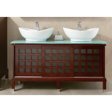 "<strong>Ove Decors</strong> Valencia 55.9"" Double Bathroom Vanity Set"