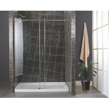 Athens Sliding Door Shower Enclosure and Base Set