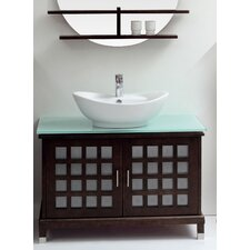 "<strong>Ove Decors</strong> Madrid 39.4"" Single Bathroom Vanity Set"