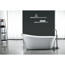 "Rachel 70'' x 34"" Acrylic Freestanding  Slipper Tub"