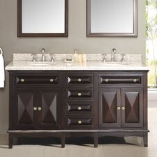 "Venice 60"" Double Bathroom Sink Vanity Set"