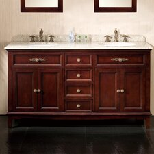 "<strong>Ove Decors</strong> Roma 60"" Double Bathroom Vanity Set"