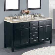 "<strong>Ove Decors</strong> Milan 60"" Double Bathroom Vanity Set"