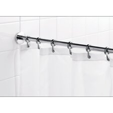 "<strong>Croydex</strong> Round 98"" Max Shower Rod with Curtain Hooks"