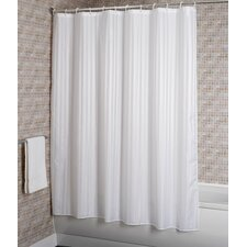 Woven Stripe Polyester Fabric Shower Curtain
