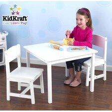 """Tisch- und 2-Stühle-Set """"Aspen"""" in Weiß"""