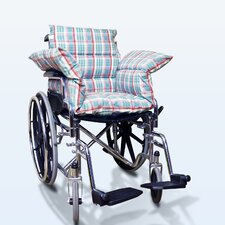 Wheelchair Comfort Seat in Pastel Plaid