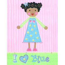 Blue Girl - Bluebell Canvas Art