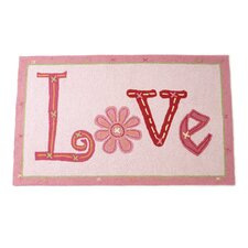 Love Pink Area Rug