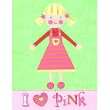 Pink Girl - Pinky Canvas Art