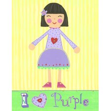 <strong>The Little Acorn</strong> Purple Girl - Violet Wall Art