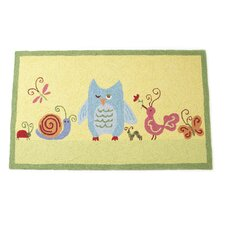 Forest Friends Yellow Area Rug