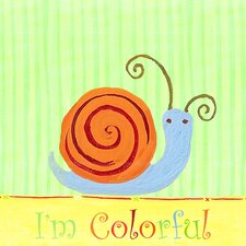 Colorful Snail Wall Art