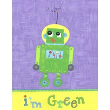 I'm Green Robot Wall Art