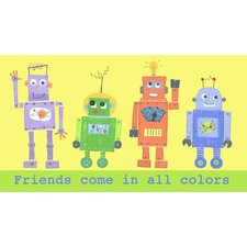 Frineds Come in All Colors Robot Canvas Art