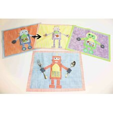 <strong>The Little Acorn</strong> Purple Robot Placemat
