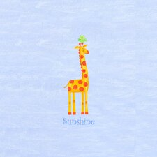 Alphabet Adventure Sunshine Giraffe Wall Art