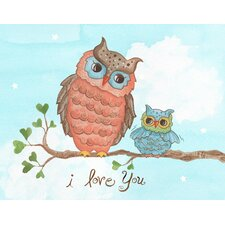 "Baby Owls ""I Love You"" Wall Art"