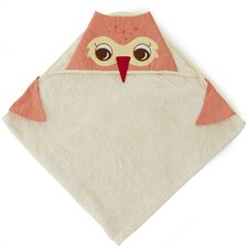 <strong>The Little Acorn</strong> Baby Owls Hoodie Bath Wrap