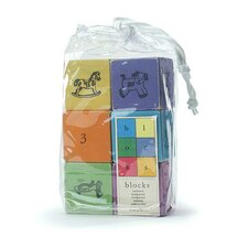 <strong>Tree by Kerri Lee</strong> Wooden Blocks in Distressed Brights (Set of 6)