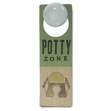 """Potty Zone"" Wooden Doorknob Sign"