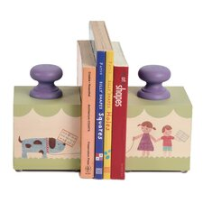 Walking the Dog Book Ends (Set of 2)