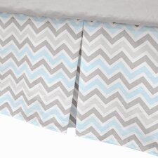 <strong>American Baby Company</strong> 100% Cotton Percale Tailored with Pleat Crib Skirt