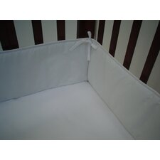 Percale Cotton Mini Crib Bumper