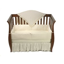<strong>American Baby Company</strong> Heavenly Soft 4 Piece Minky Dot Crib Bedding Set