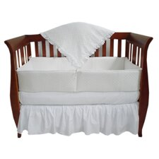 Heavenly Soft 4 Piece Minky Dot Crib Bedding Set