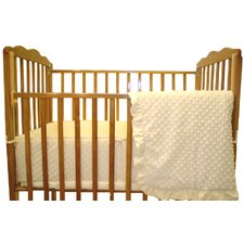 <strong>American Baby Company</strong> Heavenly Soft 3 Piece Minky Dot Mini Crib Set