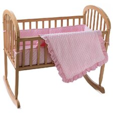 Heavenly Soft Minky Dot Cradle Bumper