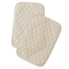 <strong>American Baby Company</strong> Waterproof Quilted Lap and Burp Pad Covers Two Pack Set