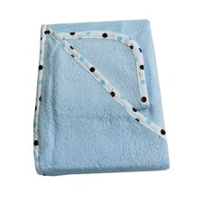 Organic Terry Hooded Towel Set in Blue