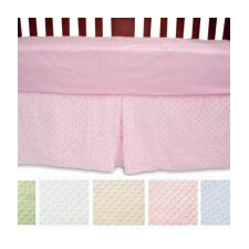 <strong>American Baby Company</strong> Heavenly Soft Minky Dot Crib Skirt
