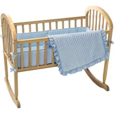 Heavenly Soft Minky Dot Mini Crib Bumper