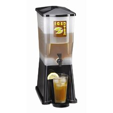 Three Gallon Slimline Beverage Dispenser in Black