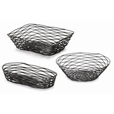 Artisan Coated Metal Baskets (Set of 3)