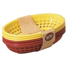 "9"" Sandwich and Fry Basket (Set of 6)"