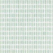 """Shimmer 1"""" x 1"""" Matte Mosaic in Snowdrift"""