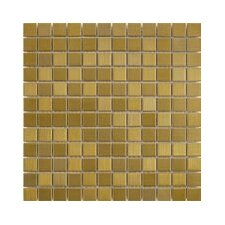 "Shimmer 1"" x 1"" Matte Metallic Mosaic in Gold"