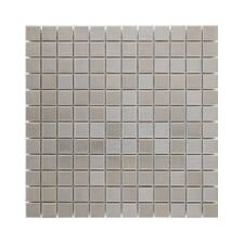 "<strong>Interceramic</strong> Shimmer 12"" x 12"" Matte Metallic Mosaic in Silver"