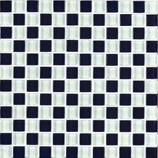 "Shimmer Blends 1"" x 1"" Matte Mosaic in Checkerboard"