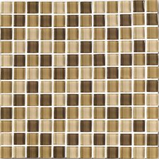 "<strong>Interceramic</strong> Shimmer Blends 12"" x 12"" Glossy Mosaic in Desert"