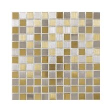 "Shimmer Blends 12"" x 12"" Matte Metallic Mosaic in Gold/Silver"