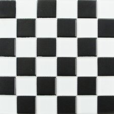 "Shimmer Blends 2"" x 2"" Glossy Mosaic in Checkerboard"
