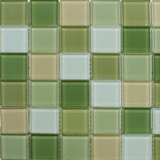 "Shimmer Blends 2"" x 2"" Glossy Mosaic in Garden"