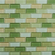 Shimmer Blends Ceramic Glossy Mosaic in Garden