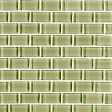 "<strong>Interceramic</strong> Shimmer 12"" x 12"" Glossy Mosaic in Meadow"